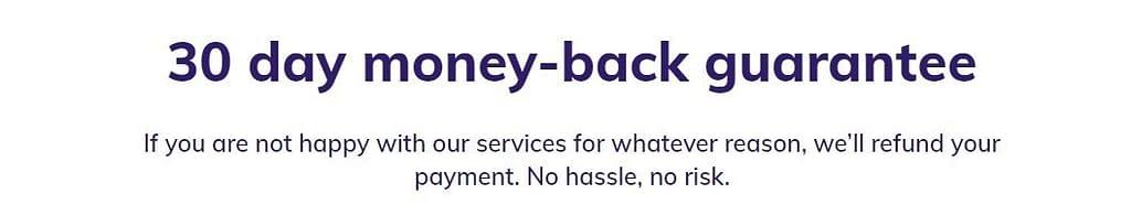 hostinger 30 day money back guarantee