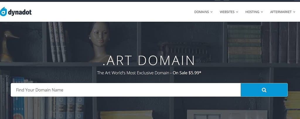 dynadot .art domain $5.99 first year