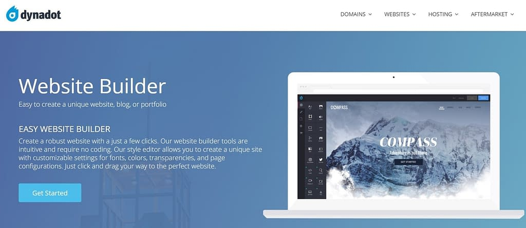 dynadot free website builder