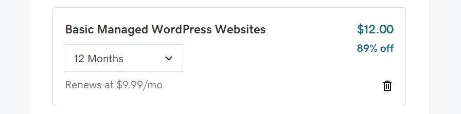 godaddy wordpress hosting plan $1/mo checkout
